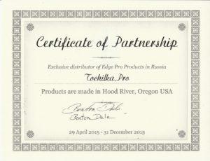 Сертификат TochilkaPRO официальный дилер