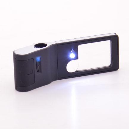 Лупа 3х, 10х + микроскоп 55х с подсветкой