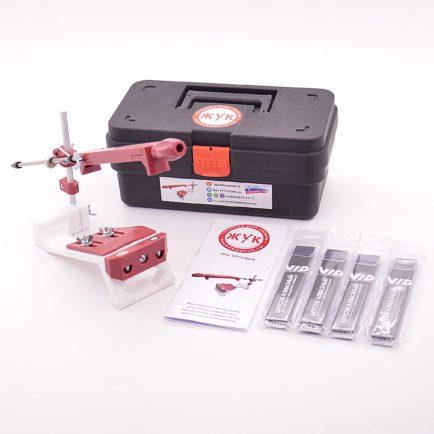 Точилка для ножей ЖУК с алмазными брусками VID 4 шт. и ящиком